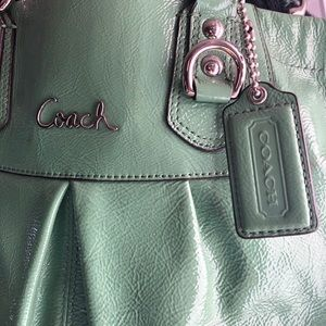 Coach, Green Patent, Handbag/Cross Body